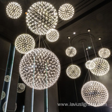 Customization design hotel mall big circular pendant lamp